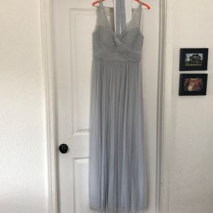 BHLDN Fleur Bridesmaid Dress in Fog, size 6